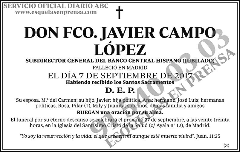 Fco. Javier Campo López